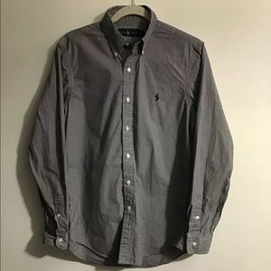 Ralph Lauren Polo black gingham shirt. Small